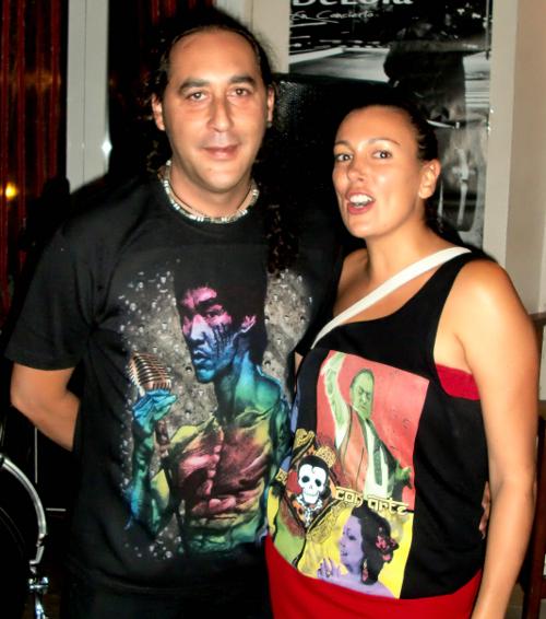 Juanito Heredia y Mónica de Kusama
